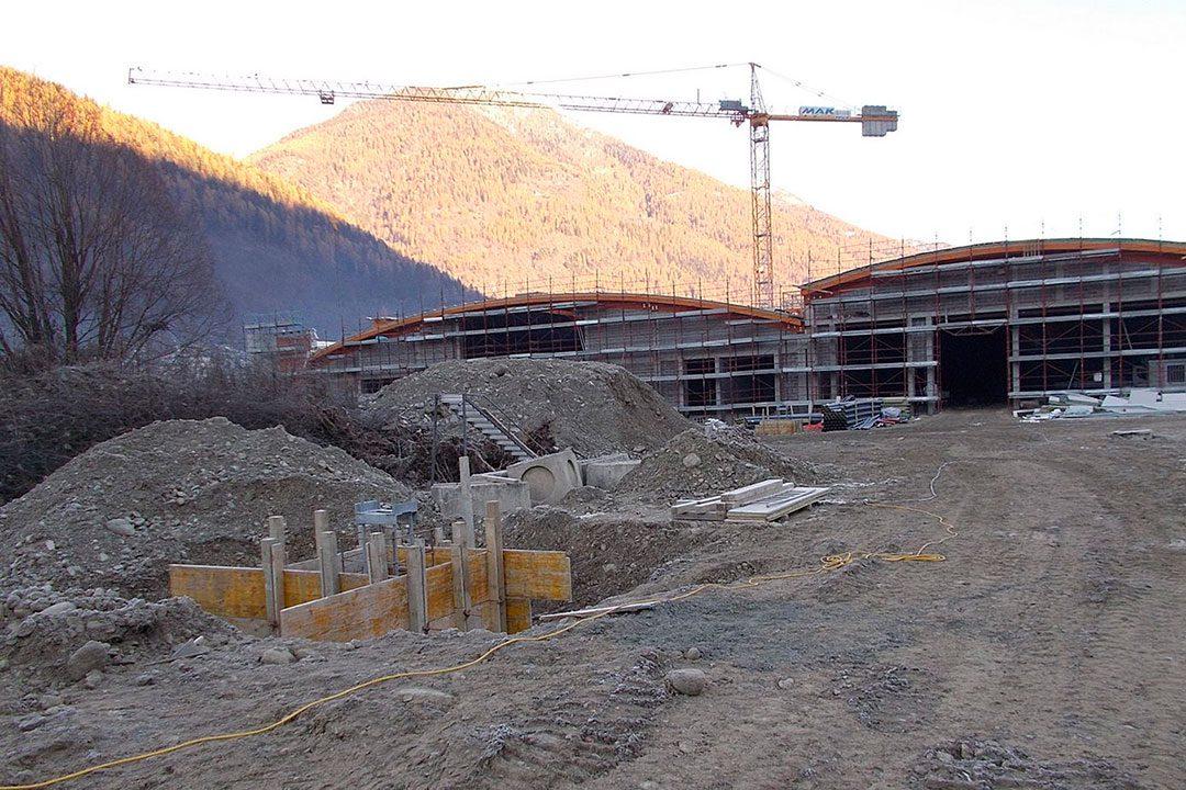 Nuova rimessa autobus-treni di Croviana - Val di Sole